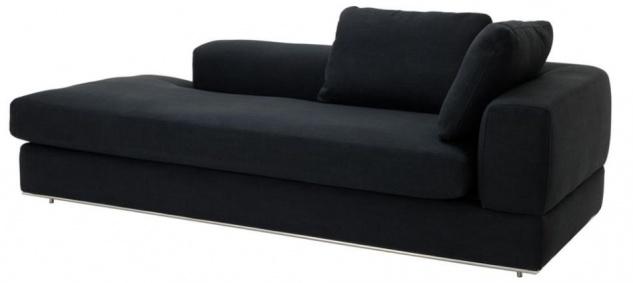 Casa Padrino Designer Sofa Schwarz Rechtsseitig 231 x 101 x H. 85 cm - Luxus Wohnzimmer Möbel