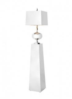 Casa Padrino Luxus Stehleuchte Nickel - Luxus Qualität