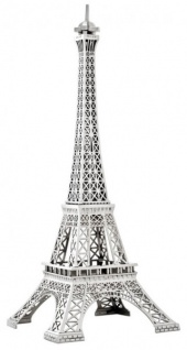 Casa Padrino Luxus Standleuchte Eiffelturm Silber - Massives vernickeltes Metall - Leuchte Lampe - Tischleuchte Tischlampe, Stehleuchte, Stehlampe