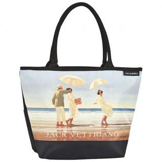"""Designer Shoppertasche mit dem Motiv des schottischen Künstlers Jack Vettriano """" Picnic Party"""" - Elegante Tasche - Luxus Design"""