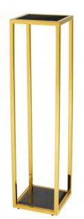 Casa Padrino Luxus Beistelltisch Gold 25 x 25 x H. 100 cm - Designer Tisch Möbel