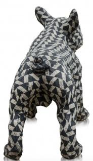 Casa Padrino Deko Bulldogge Schwarz / Weiß 43 x 23 x H. 34 cm - Luxus Wohnzimmer Accessoires - Vorschau 4