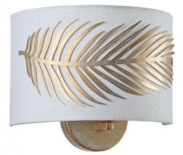 Casa Padrino Wandleuchte Gold / Weiß 24 x 12 x H. 19 cm - Hotel & Restaurant Möbel