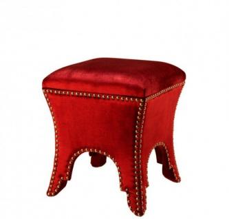 Casa Padrino Luxus Hocker Rot 39 x 39 x H. 45 cm - Luxus Qualität