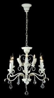 Casa Padrino Barock Decken Kristall Kronleuchter Weiß Gold 63 x H 59 cm Antik Stil - Möbel Lüster Leuchter Hängeleuchte Hängelampe