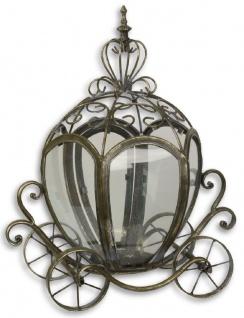 Casa Padrino Jugendstil Laterne / Kerzenleuchter Prinzessinnen Kutsche Antik Messingfarben 36, 1 x 22, 2 x H. 43 cm - Deko Accessoires