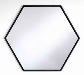 Casa Padrino Luxus Spiegel mit schwarzem Holzrahmen 52 x H. 45 cm - Wohnzimmer Wandspiegel