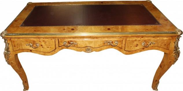 Casa Padrino Luxus Barock Schreibtisch Vogelaugen Ahorn Sekretär - Antik Stil - Vorschau 3