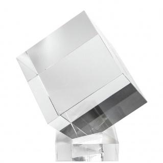 Casa Padrino Luxus Deko Acryl Würfel mit Halterung 20 x 20 x H. 20 cm - Schreibtisch Deko - Büro Deko - Wohnzimmer Deko - Luxus Qualität