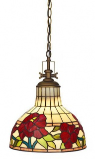 Casa Padrino Tiffany Vintage Hängeleuchte Industrie Leuchte Lampe - Industrial Design - Küchenleuchte