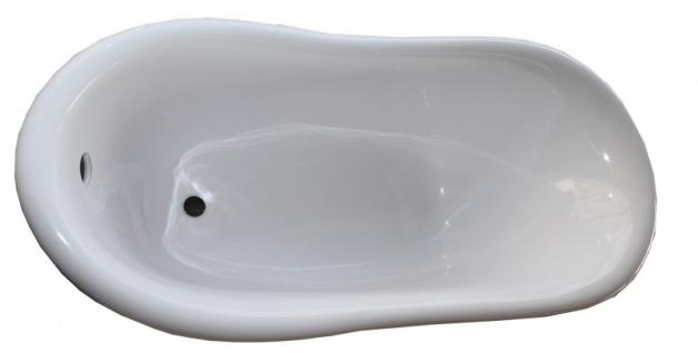 Freistehende Luxus Badewanne Jugendstil Roma Türkis/Weiß Altgold 1470mm - Barock Antik Badezimmer - Vorschau 2