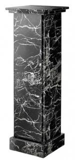Casa Padrino Kunstmarmor Säule Schwarz 39 x 39 x H. 122 cm - Luxus Beistelltisch