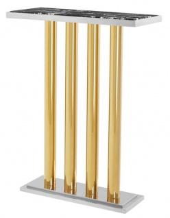 Casa Padrino Luxus Konsole Gold 70 x 30 x H. 93 cm - Designer Hotel Möbel