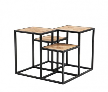Casa Padrino Luxus Art Deco Designer Eichenholz Beistelltisch - Luxus Tisch