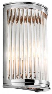 Casa Padrino Luxus Wandleuchte Silber 21 x 11 x H. 31, 5 cm - Designer Hotel Restaurant Möbel
