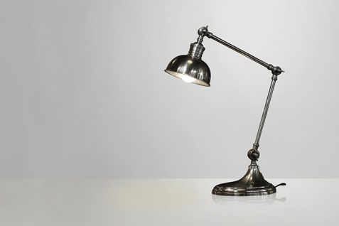 Massive Messing Schreibtischleuchte Industrial Style - Hochwertige Qualität Schreibtisch Lampe Leuchte - Schwere Ausführung