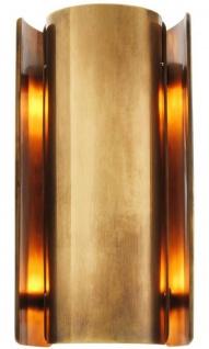 Casa Padrino Luxus Metall Wandleuchte Vintage Messingfarben 16, 5 x 12 x H. 31, 8 cm - Designer Leuchte