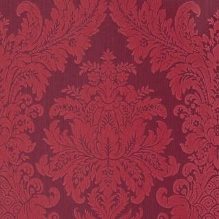 Casa Padrino Barock Textiltapete Rot 10, 05 x 0, 53 m - Luxus Wohnzimmer Tapete