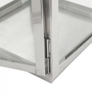 Casa Padrino Designer Laterne Aluminium Silber / Glas - Kerzenleuchter Vintage Stil - Vorschau 5