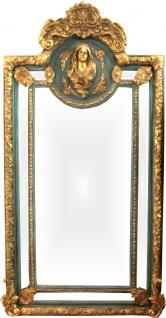 Herrschaftlicher Casa Padrino Barock Spiegel Grün Gold Maria Motiv - Barock Möbel Antik Stil