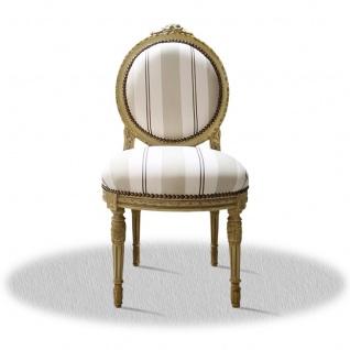 Casa Padrino Barock Salonstuhl Creme 50 x 50 x H. 100 cm - Antik Möbel