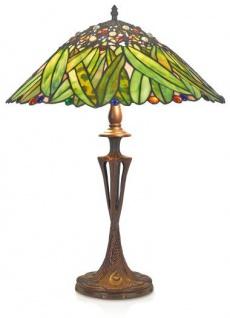 Casa Padrino Tiffany Tischleuchte Hockerleuchte Bananenblätter 40 cm ModX4c - Leuchte Lampe