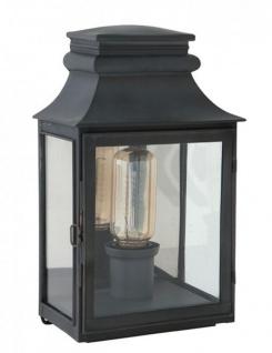 Casa Padrino Luxus Wandleuchte Zink Durchmesser 22 x 14 x H 37 cm - Luxus Leuchte