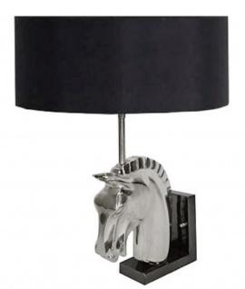 Casa Padrino Designer Wandleuchte Pferdekopf Silber / Schwarz 18 x 8 x H. 40 cm - Luxus Möbel