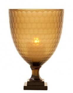 Casa Padrino Luxus Kerzenleuchter Honigfarbig 20 x H. 30 cm - Restaurant Accessoires