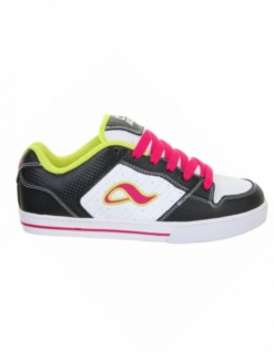 Adio Skateboard Schuhe Betsey Black/White/Lime Sneakers Shoes 2