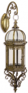 Casa Padrino Jugendstil Wandlaterne / Wandkerzenleuchter Antik Gold 21, 4 x 23, 7 x H. 70, 6 cm - Garten & Terrassen Accessoires