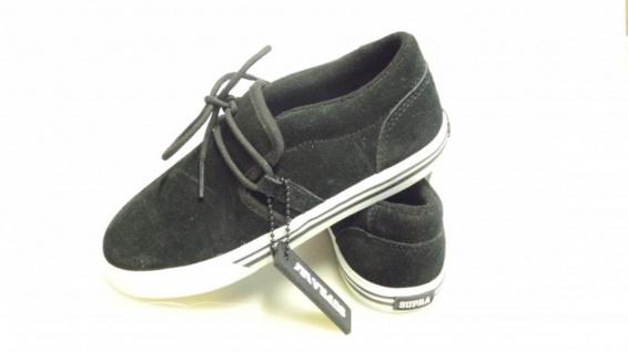 SUPRA Skateboard Schuhe Cuban Kids Schwarz/Weiß