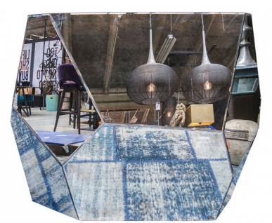 Casa Padrino Designer Konsole mit antikem Spiegelglas 125 x 54 x H. 100 cm - Designer Kollektion