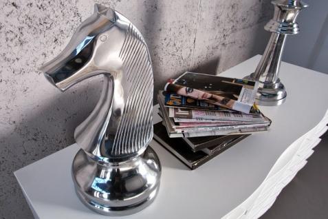 Große Casa Padrino Deko Schachfigur Pferd H 60 cm, edle Skulptur aus Aluminium - Edel & Prunkvoll - Schach Figur Skulptur