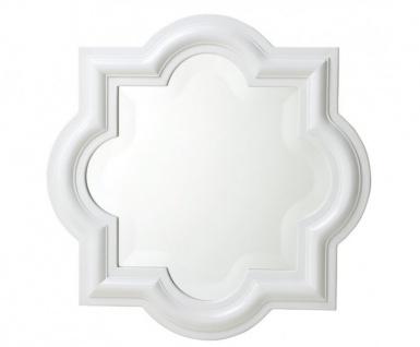 Casa Padrino Designer Luxus Wandspiegel Weiß 50 x H 50 cm - Luxus Hotel Spiegel