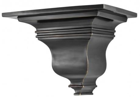 Casa Padrino Luxus Messing Wandkonsole Bronze 34 x 25 x H. 25 cm - Art Deco Möbel