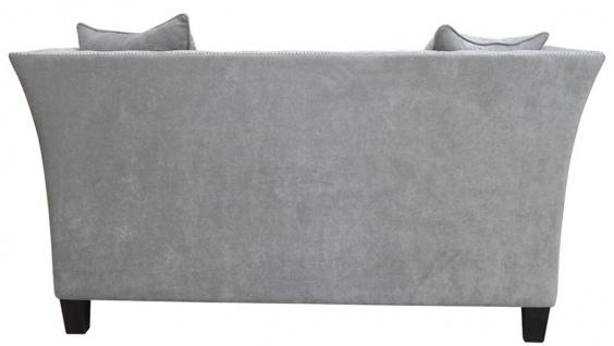 Casa Padrino Luxus Chesterfield Samt Sofa mit Kissen 174, 5 x 91 x H. 86 cm - Verschiedene Farben - Wohnzimmer Möbel - Chesterfield Möbel - Vorschau 5