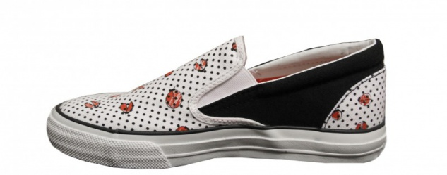 Converse Skateboard Schuhe Skidgrip Ev Ladybug Weiß Slip On On On b82b98