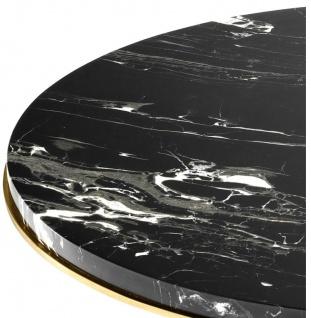 Casa Padrino Luxus Wohnzimmer Beistelltisch in gold mit schwarzer Marmorplatte 50 x H. 57 cm - Limited Edition - Vorschau 4