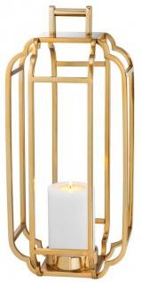 Casa Padrino Luxus Kerzenleuchter Gold 25 x 25 x H. 55 cm - Hotel Accessoires