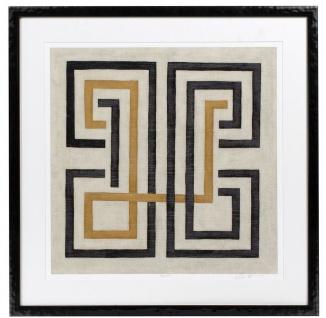 Casa Padrino Designer Bilder Set Mehrfarbig / Schwarz 69 x H. 69 cm - Dekorative Wandbilder mit Holzrahmen - Designermöbel - Vorschau 2
