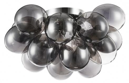 Casa Padrino Deckenleuchte Schwarz / Silber 38 x 38 x H. 25 cm - Wohnzimmer Deckenlampe