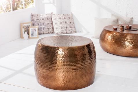 Casa Padrino Luxus Couchtisch Kupfer 60 cm Aluminium - Wohnzimmer Salon Tisch - Unikat - Vorschau 4