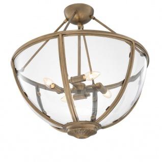 Casa Padrino Luxus Deckenleuchte Antik Messing Gold Ø 60 x H. 55 cm - Hotel & Restaurant Deckenlampe - Vorschau 2