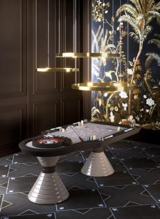 Casa Padrino Luxus Roulette Tisch Grau / Schwarz / Silber 230 x 125 x H. 79 cm - Edler Massivholz Roulette Tisch - Casino Tisch - Hotel Kollektion - Luxus Qualität - Made in Italy - Vorschau 2