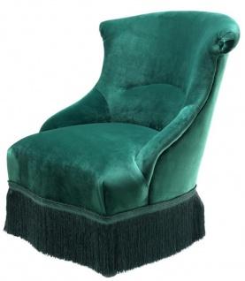 Casa Padrino Designer Sessel Grün 68 x 70 x H. 79 cm - Luxus Kollektion