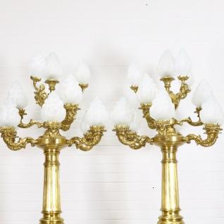 Casa Padrino Barock Stand Kronleuchter mit Marmor Säulen Set Mod2 Schwarz / Gold - Edel & Prunkvoll - Vorschau 3