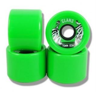 Clans Longboard Wheel Set Green 70mm / 83A (4 Rollen) Rollen Set Wheels