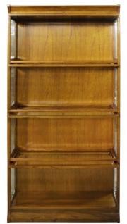 Casa Padrino Luxus Bücherschrank mit 4 Glastüren und LED Beleuchtung Hellbraun 90 x 39 x H. 182 cm - Büroschrank - Vorschau 4