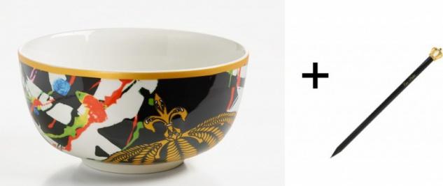 Harald Glööckler Porzellan Schale 20 cm Mod1 + Luxus Bleistift von Casa Padrino - Barock Dekoration